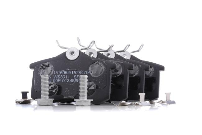 Bremsbelagsatz, Scheibenbremse Breite: 87mm, Höhe: 52,9mm, Dicke/Stärke: 16mm mit OEM-Nummer 5C0698451