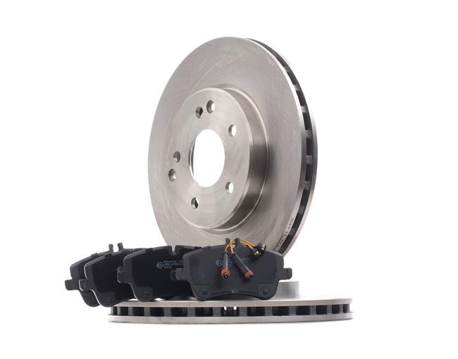RIDEX Vorderachse, Innenbelüftet, für Verschleißwarnanzeiger vorbereitet, mit Anti-Quietsch-Blech, ohne Schrauben 3405B0463