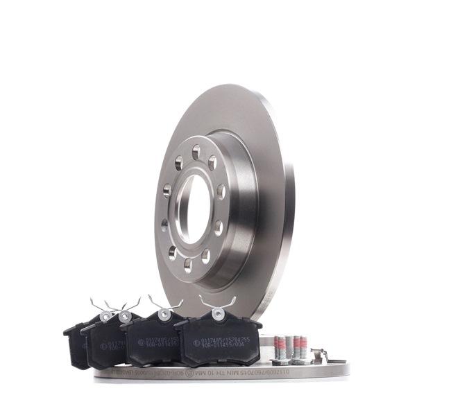 STARK mit Zubehör, Hinterachse, Voll, nicht für Verschleißwarnanzeiger vorbereitet, mit Bremssattelschrauben SKBK10990466
