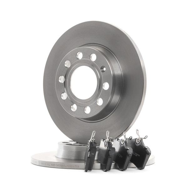 RIDEX mit Zubehör, Hinterachse, Voll, exkl. Verschleißwarnkontakt, nicht für Verschleißwarnanzeiger vorbereitet, mit Bremssattelschrauben 3405B0468