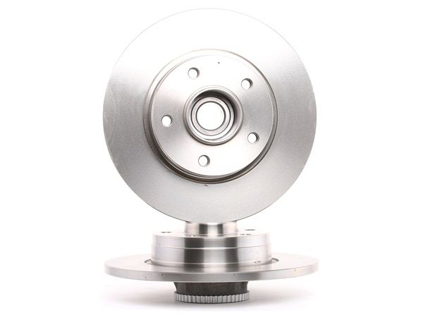 Brake discs and rotors BREMBO 1656591 Solid, with ABS sensor ring, with wheel bearing set