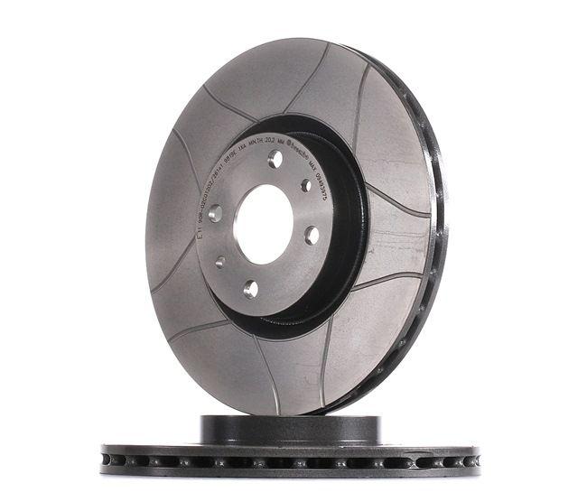 Frenos de disco BREMBO 1656784 Ranurado, Ventilación interna, revestido, con tornillos