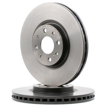 Frenos de disco BREMBO 1656845 Ventilación interna, revestido, con tornillos
