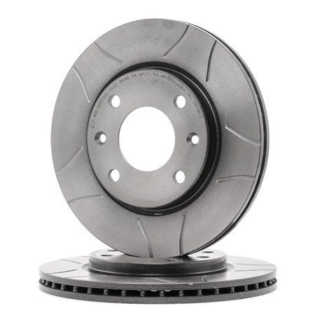 Frenos de disco BREMBO 1656852 Ranurado, Ventilación interna, revestido, con tornillos