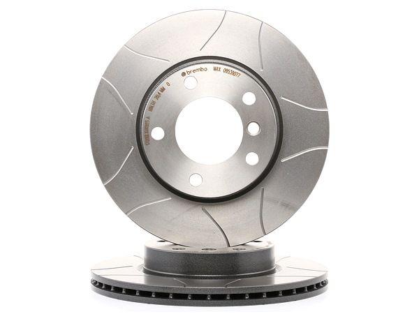 Frenos de disco BREMBO 1656885 Ranurado, Ventilación interna, revestido, altamente carbonizado, con tornillos