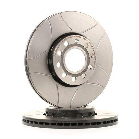 Frenos de disco BREMBO 1656984 Ranurado, Ventilación interna, revestido, altamente carbonizado, con tornillos