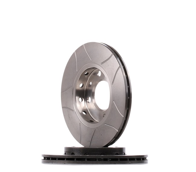 Brake discs and rotors BREMBO 1657081 Internally Vented, Slotted, Coated, with screws