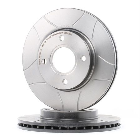 BREMBO MAX LINE Frenos de disco FORD Ranurado, Ventilación interna, revestido