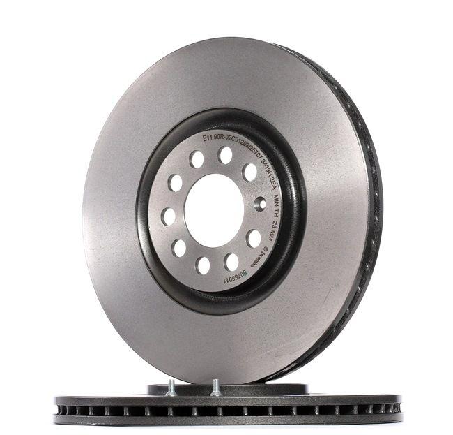 Bremsscheibe Bremsscheibendicke: 25mm, Lochanzahl: 5, Ø: 312mm mit OEM-Nummer 8N0615301A