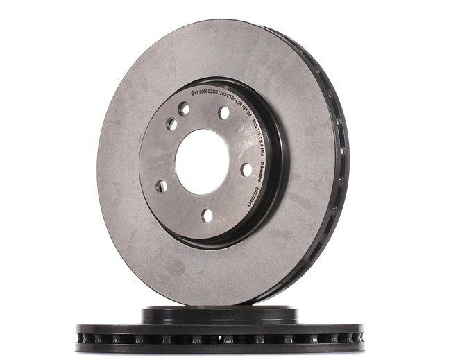 BREMBO COATED DISC LINE Frenos de disco MERCEDES-BENZ Ventilación interna, revestido, altamente carbonizado, con tornillos