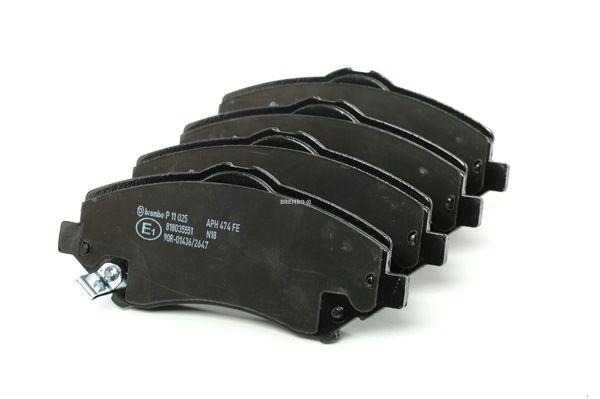 Remblokken BREMBO D13278703 Met akoestische slijtagewaarschuwing, Met toebehoren