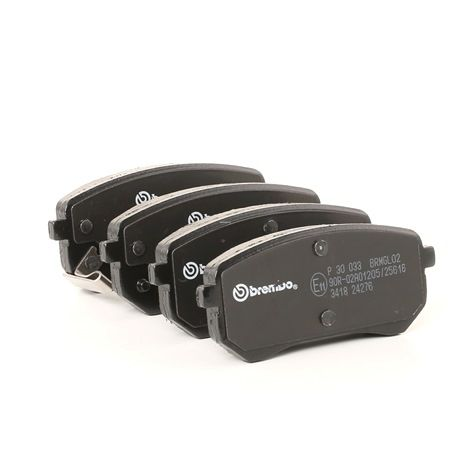Disk brake pads BREMBO D20418939 with acoustic wear warning