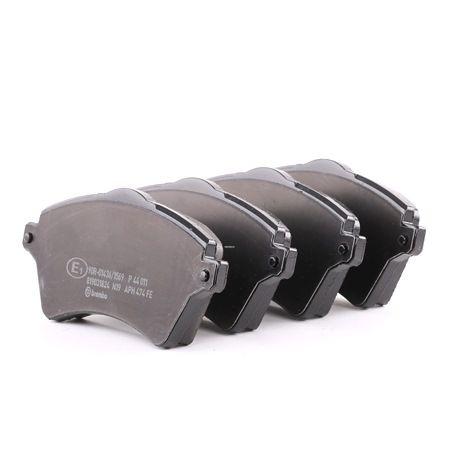 Bremsbelagsatz, Scheibenbremse Breite: 131,6mm, Höhe: 62,3mm, Dicke/Stärke: 17,5mm mit OEM-Nummer 236.15