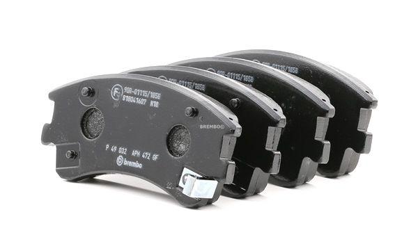 OEM Brake Pad Set, disc brake BREMBO 7856D957 for MAZDA