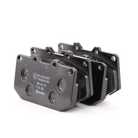 OEM Brake Pad Set, disc brake BREMBO 8298D1182 for TOYOTA
