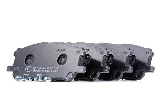 OEM Bremsbelagsatz, Scheibenbremse BREMBO 7906D1005 für LEXUS