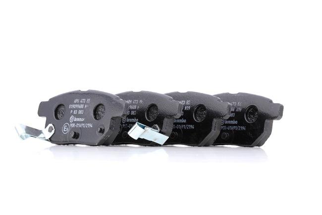 OEM Brake Pad Set, disc brake BREMBO D14238463 for SUBARU