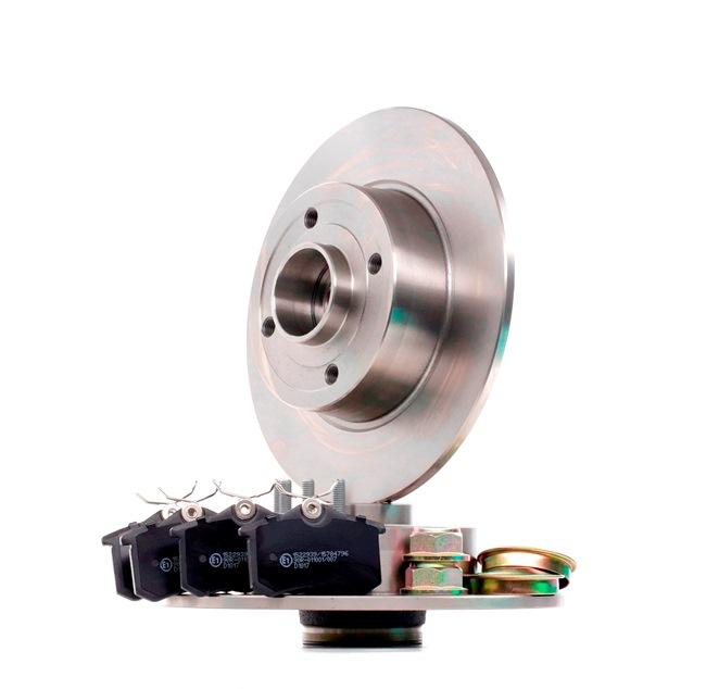 RIDEX mit Zubehör, Hinterachse, Voll, nicht für Verschleißwarnanzeiger vorbereitet, mit integriertem magnetischen Sensorring, mit Radlager 3405B1305