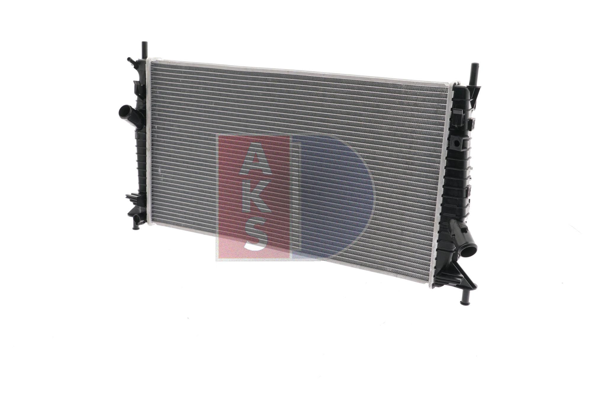 Radiador de motor AKS DASIS 1721251 Aluminio, Aletas refrigeración soldadas
