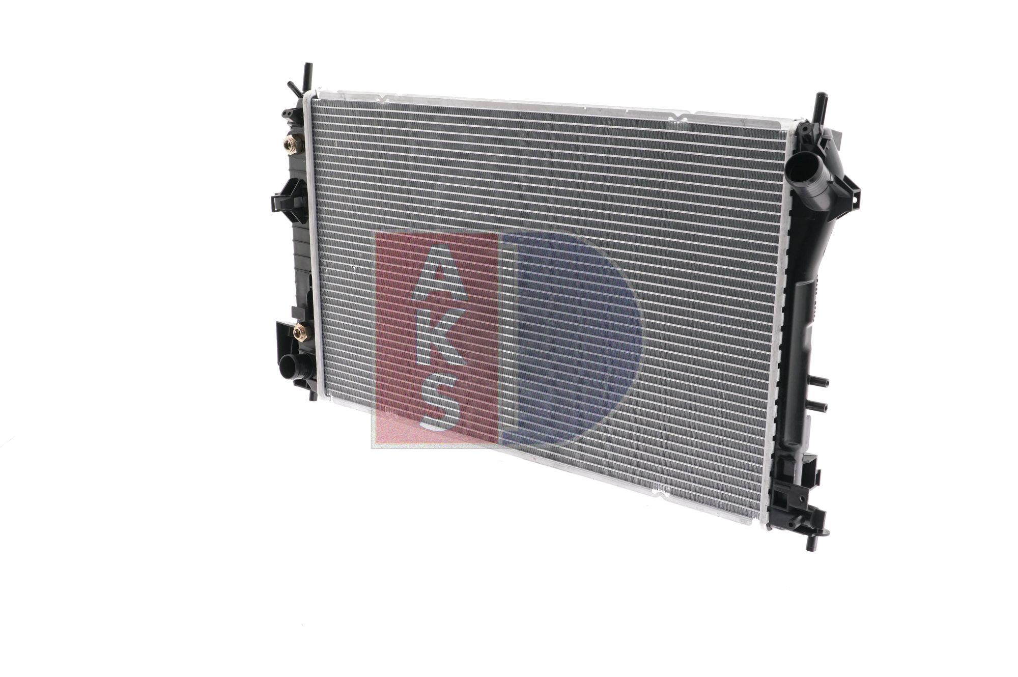AKS DASIS Radiatore motore SAAB Alette di raffreddamento saldate