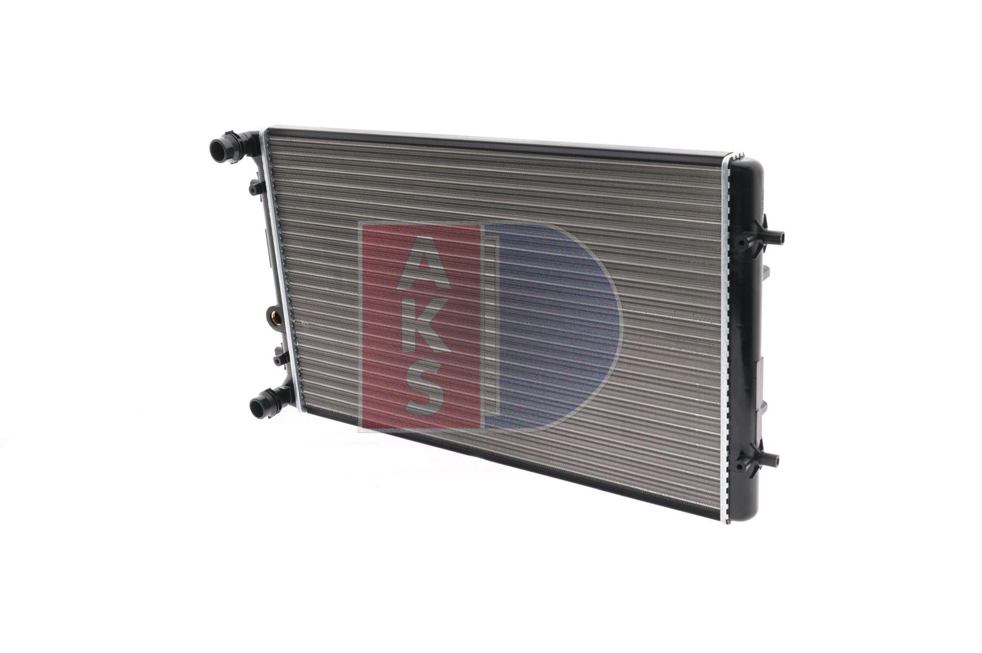 AKS DASIS Radiador arrefecimento do motor VW Aletas de refrigeração unidas mecanicamente