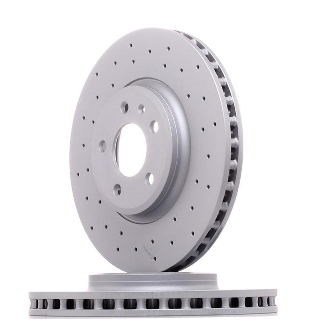 ZIMMERMANN SPORT COAT Z Комплект спирачни дискове вътрешновентилиран, надупчен, с покритие, високовъглеродна