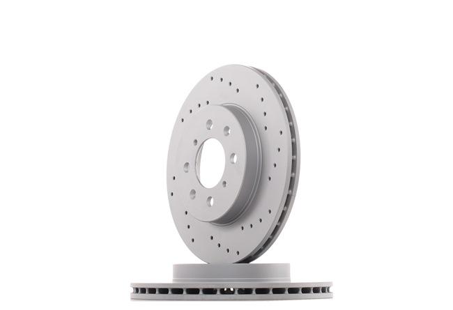 ZIMMERMANN SPORT COAT Z Комплект спирачни дискове ROVER вътрешновентилиран, надупчен, с покритие