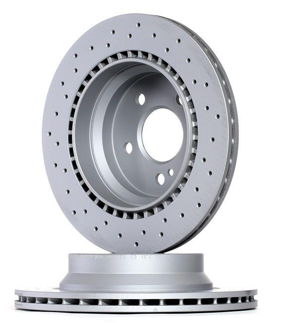 Frenos de disco ZIMMERMANN 1740048 Perforado, Ventilación interna, revestido, altamente carbonizado
