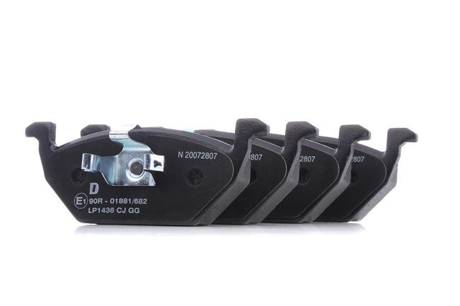 Bremsbelagsatz, Scheibenbremse Höhe: 55mm, Dicke/Stärke 2: 19mm mit OEM-Nummer 6Q0-698-151