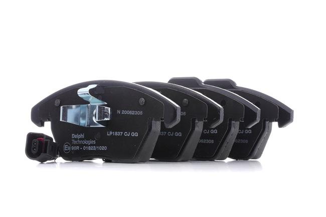 Kit de plaquettes de frein, frein à disque Hauteur 2: 66mm, Hauteur: 71mm, Epaisseur 2: 20mm avec OEM numéro 3C0698151D