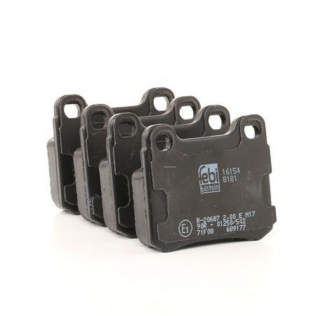 Bremsbelagsatz, Scheibenbremse Breite: 54,3mm, Dicke/Stärke 1: 15,5mm mit OEM-Nummer A0014200120