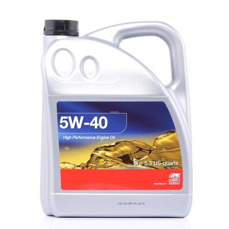 Olio auto 5W-40, Contenuto: 5l, Olio sintetico EAN: 4027816329381