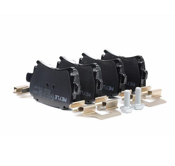 Bremsbelagsatz, Scheibenbremse Breite: 105,3mm, Höhe: 56mm, Dicke/Stärke: 16,7mm mit OEM-Nummer 8E0-698-451-M
