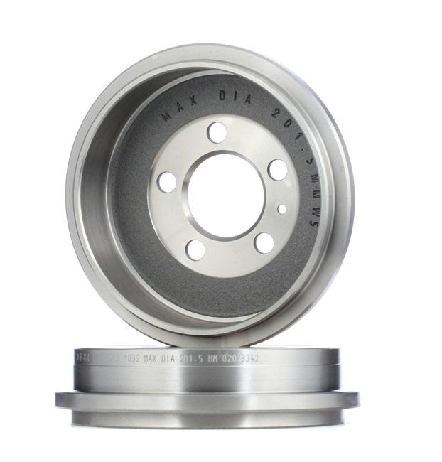 Bremstrommel Br.Tr.Durchmesser außen: 240mm mit OEM-Nummer 6Q0609617
