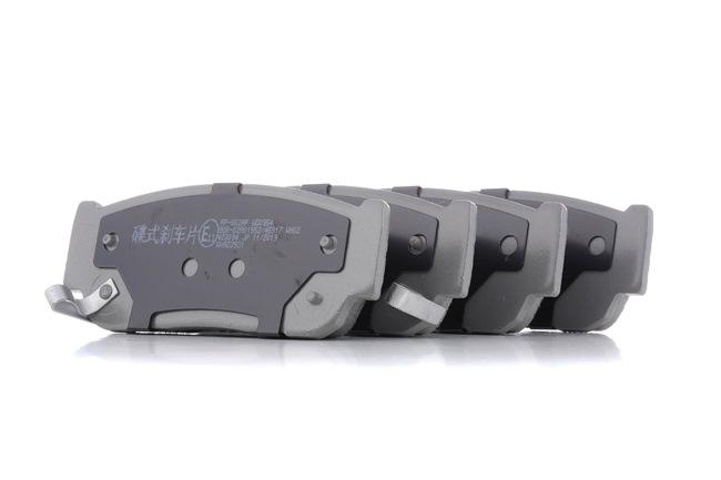 Disk brake pads JAPANPARTS 2168260 Rear Axle
