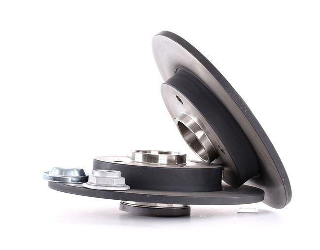 TRW Tarcza hamulcowa PEUGEOT pełny, z łożyskiem koła, z pierścieniem nadajnika impulsów ABS