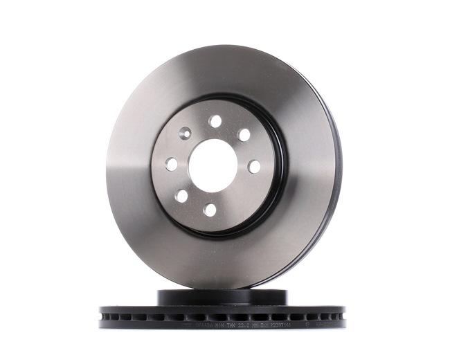 TRW Спирачен диск вентилиран, боядисан, високовъглеродна