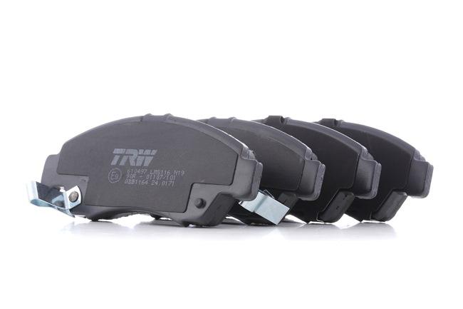 TRW Комплект спирачно феродо, дискови спирачки с акустично предупреждение за износване