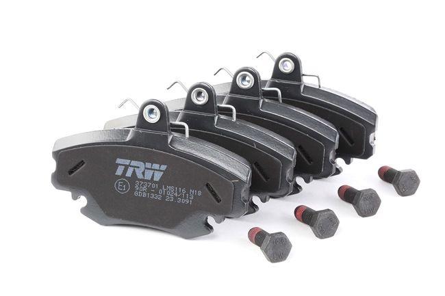 TRW COTEC für Verschleißwarnanzeiger vorbereitet, mit Bremssattelschrauben, mit Zubehör GDB1332