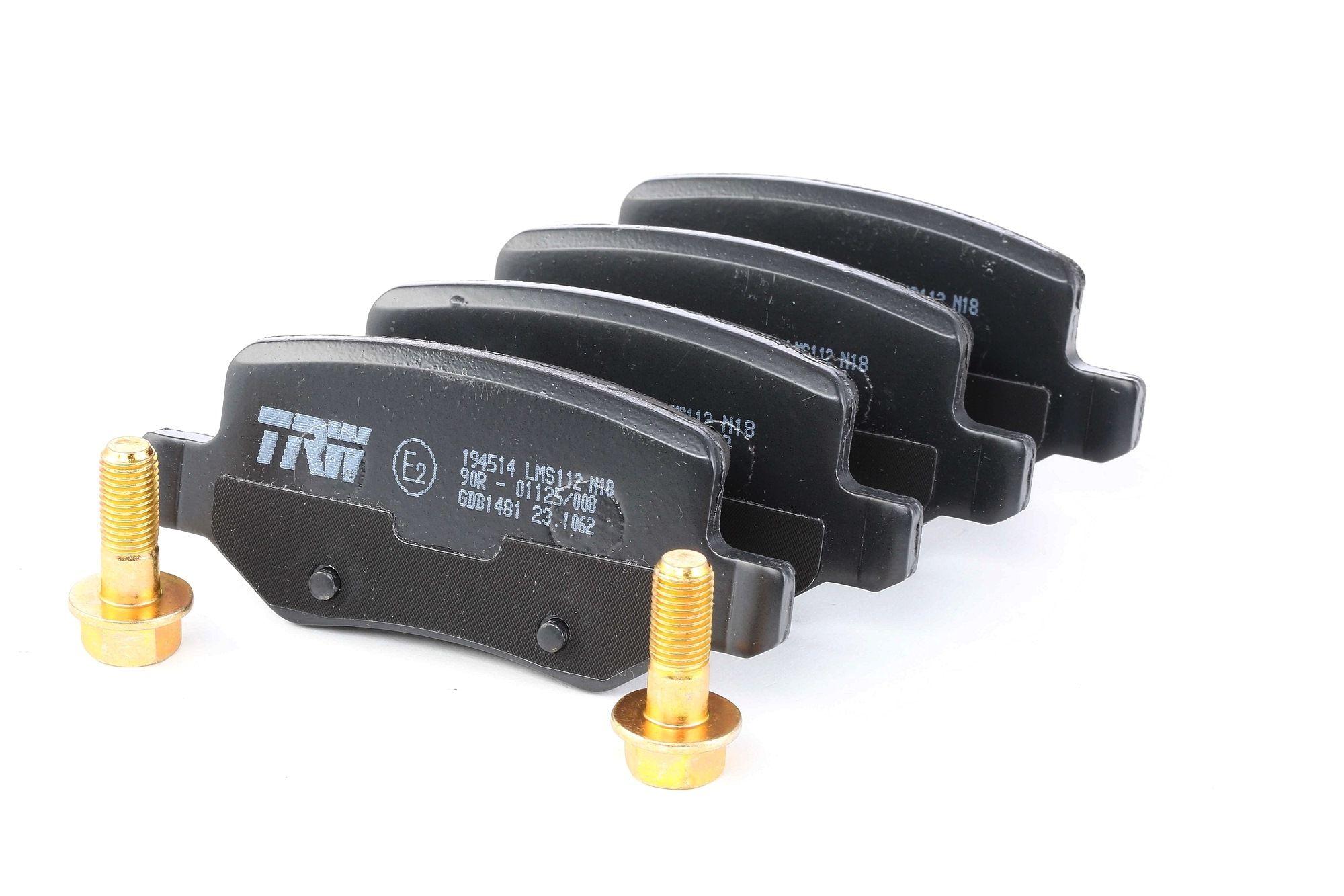 Disk brake pads TRW GDB1481 rating