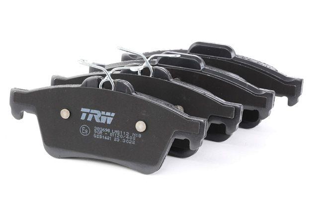 TRW Комплект спирачно феродо, дискови спирачки не е за подготвен за предупредителен датчик за износване