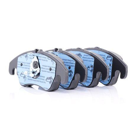Bremsbelagsatz, Scheibenbremse Höhe 1: 73,0mm, Höhe 2: 73,6mm, Dicke/Stärke: 19,0mm mit OEM-Nummer 8K0698151H