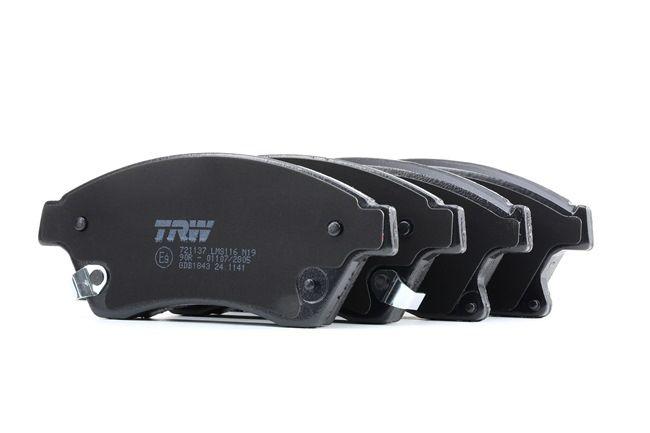 OEM Комплект спирачно феродо, дискови спирачки TRW 25033 за OPEL