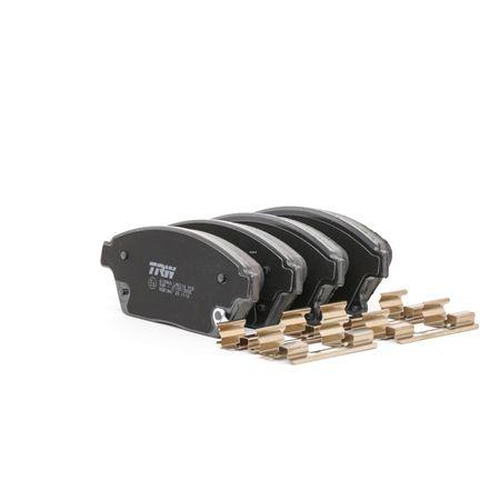 TRW COTEC Bremsklötze CADILLAC mit akustischer Verschleißwarnung, mit Zubehör
