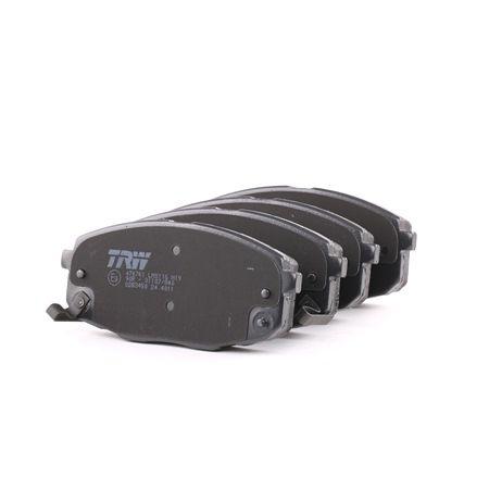 TRW Sada brzdových destiček, kotoučová brzda s akustickou výstrahou opotřebení