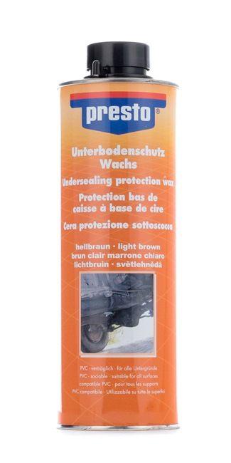 Unterbodenschutz PRESTO 603246 für Auto (Inhalt: 1l, UBS Wachs hell 1000)