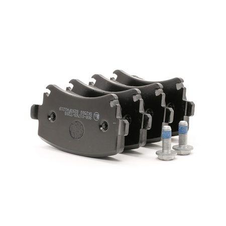 Bremsbelagsatz, Scheibenbremse Breite: 105,3mm, Höhe: 55,5mm, Dicke/Stärke: 16,9mm mit OEM-Nummer 4F0 698 451 B