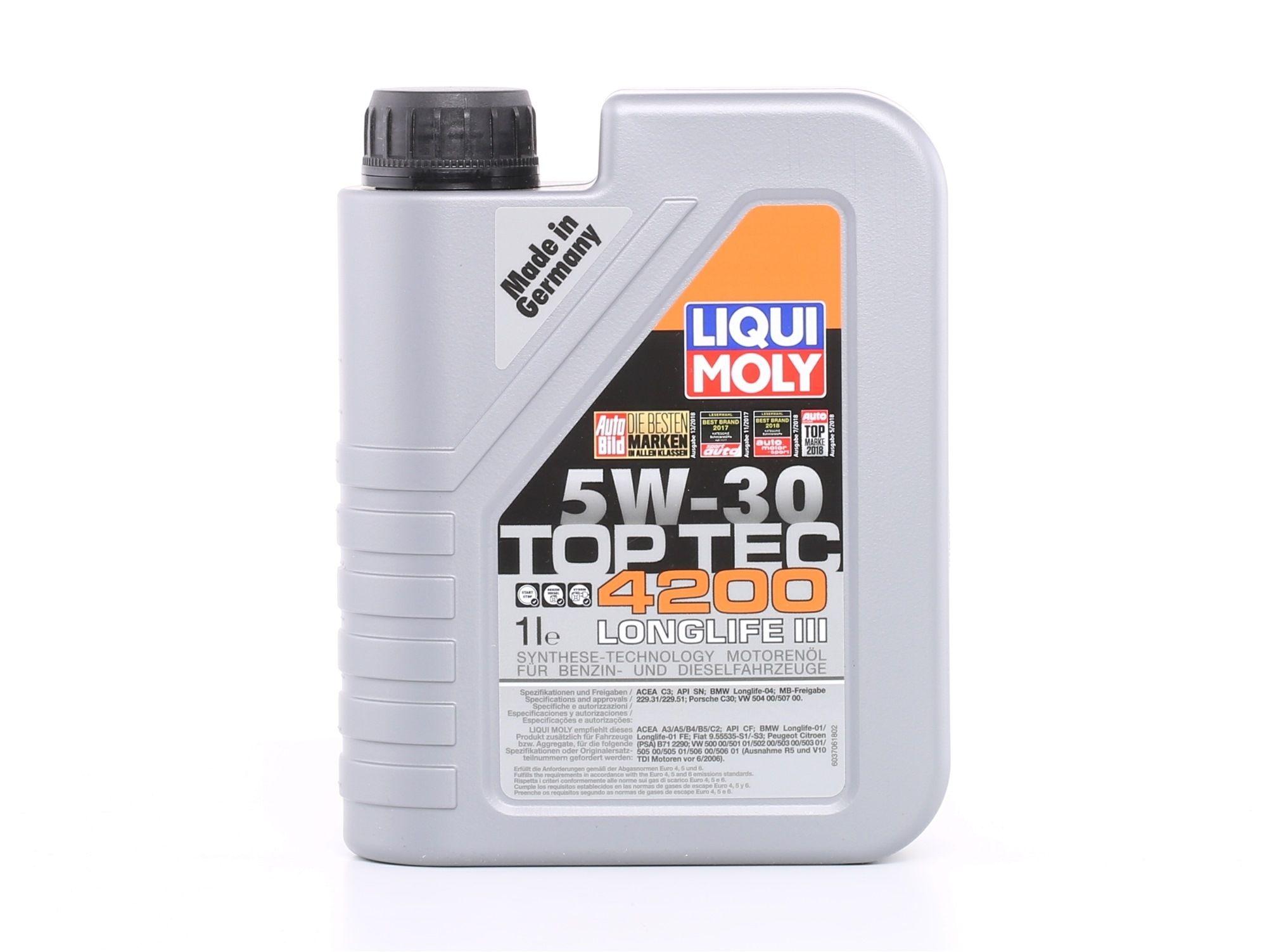 Aceite de motor LIQUI MOLY VW50601Exceptions evaluación