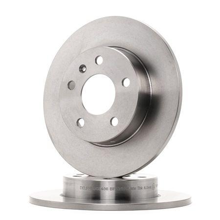 Bremsscheibe Bremsscheibendicke: 10mm, Lochanzahl: 5, Ø: 264mm mit OEM-Nummer 9 117 772
