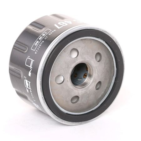 Ölfilter OC467 MAHLE ORIGINAL Anschraubfilter Außendurchmesser 2: 72,0mm, Ø: 76,0mm, Innendurchmesser 2: 62,0mm, Höhe: 55,0mm